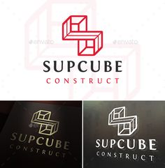 #Super Cube S Letter Logo - Letters Logo Templates You can change text and colors very easy using the named and organized layers that includes the file.