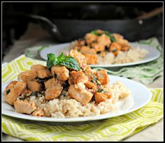 Spicy basil chicken - need more recipes to use up the bumper crop of basil in my garden!