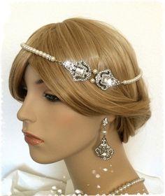 Great Gatsby Inspired Crystal Pearl by WhitePeonybyKC on Etsy