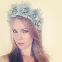 Silver Rose Flower Crown - Lana Del Flower Crown - Halloween Lana Del Rey - Bridal Silver Rose Headband