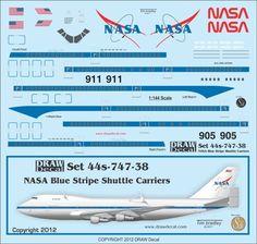 1:144 NASA Blue Stripe Shuttle Carrier 747's