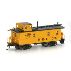 HO RTR Cupola Caboose, MKT/Yellow #1014 (ATH74192): Athearn Trains