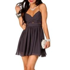 Elly- Gunmetal Short Homecoming Dress ($84.90)