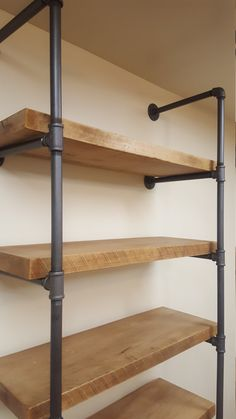 2 thick Rough Sawn wood Pipe Shelving with 2 thick / reclaim wood pipe shelves Wood And Pipe Shelves, Industrial Pipe Shelves, Rustic Shelves, Floating Shelves, Pipe Shelving, Industrial Lamps, Barn Wood Shelves, Galvanized Pipe Shelves, Shelving Units