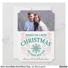 Wish a Merry Christmas to loved ones this holiday season with Christmas cards from Zazzle! Festive greeting cards, photo cards & more. Modern Christmas Cards, Holiday Cards, Christmas Templates, Merry Christmas And Happy New Year, Smudging, Paper Texture, Snowflakes, Retro, Prints