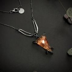Bones, Quartz, Pendant Necklace, Jewellery, Chain, Unique, Silver, Beautiful, Jewels