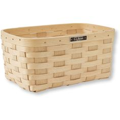 L.L.Bean Woven Storage Basket (36 CAD) ❤ liked on Polyvore featuring home, home decor, small item storage, handmade home decor, white baskets, handmade baskets, weave basket and woven storage baskets