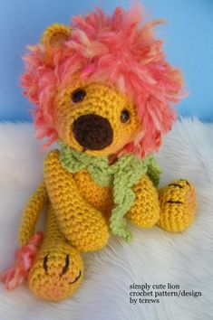 Lion Crochet Pattern (pay $5.33)