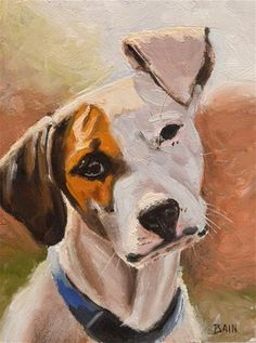 """Daily Paintworks - """"All Ears"""" - Original Fine Art for Sale - © Peter Bain"""