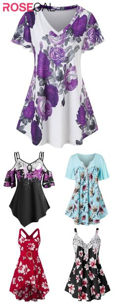 Trendy Plus Size Clothing, Plus Size T Shirts, Plus Size Tops, Plus Size Outfits, Plus Size Fashion, Petite Fashion, Curvy Fashion, Style Fashion, New Outfits