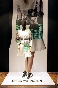 Great use of large scale imagery.    DRIES VAN NOTEN: Het Modepaleis - Spring Summer 2012 Windows    #retail #window #display