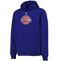 Detroit Pistons adidas Youth Primary Logo Pullover Hoodie - Blue - $44.99