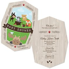 Woodland Creatures baby shower shaped invitation with this phrase: Oh Deer! Baby is almost here! Simple Baby Shower, Baby Boy Shower, Owl Shower, Baby Shower Parties, Baby Shower Themes, Shower Ideas, Baby Showers, Baby Shower Invitations, Party Invitations