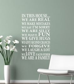 Wall Decal In This HouseWe are Family Vinyl by JustTheFrosting