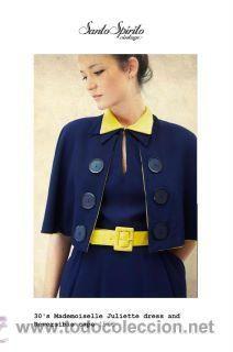 vestido vintage original de los años 30 con capelina reversible!!!