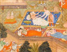 """"""" A Clandestine Affair """" , From a Kathasaritsagara, circa 1590. At LACMA."""