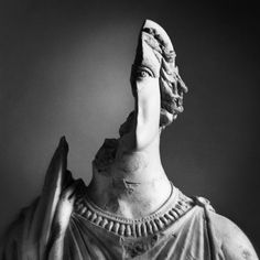 Creative Visual, Ideas, Warn, Statue, and Destroyed image ideas & inspiration on Designspiration Red Rising, The Secret History, Two Faces, Memento Mori, Portrait, Sculpture Art, Sculpting, Art Photography, Poses