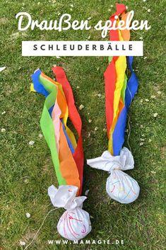 Schleuderbälle selber machen - New ideas Diy For Kids, Crafts For Kids, Maila, Backyard Fences, Crepe Paper, Cool Ideas, Apple Tv, Kindergarten, Indiana