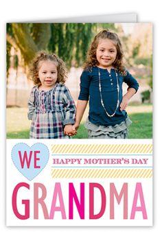 We Love Grandma Mother's Day Card, Square Corners, White
