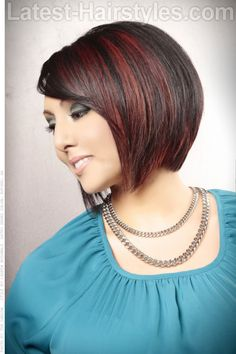Hair Color Trends 2018 - Highlights Angled Bobs with Bangs Angled Bob Hairstyles, 2015 Hairstyles, Cute Hairstyles For Short Hair, Bride Hairstyles, Casual Hairstyles, Celebrity Hairstyles, Short Haircuts, Bobs For Thin Hair, Short Hair With Bangs