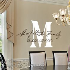 It's that time of year to display your family name in style. Easy install & looks painted! Many styles & colors --->
