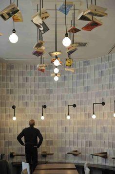 I want these lights McNally Jackson Cafe / Front Studio Architects
