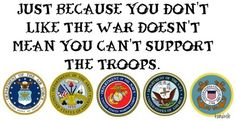 Support our Troops or stand in front of them!