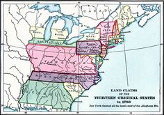 Land Claims of the Thirteen Original States in 1783