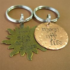 Drogo & Dany Key Chain Set - Spiffing Jewelry.  Want these as rings or necklace