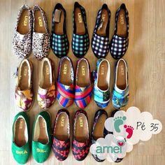 Pés nas nuvens☁️ 35 PROMO R$50,00 @loja_amei  #lojaamei #alpargatas #promoção