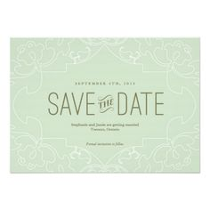 Lacy Save the Date - Aqua Invitations