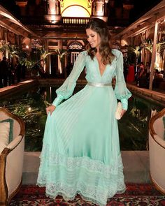 Our girl looking stunning in acqua. Chiffon Maxi Dress, Dress Skirt, Dress Up, Casual Dress Outfits, Stylish Dresses, Abaya Fashion, Fashion Dresses, Pretty Dresses, Beautiful Dresses