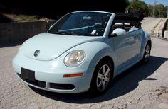 It's my car! Example of Aquarius Blue paint on a 2006 Volkswagen Beetle convertible Beetle Car, Blue Beetle, Vw Beetle Convertible, Flower Car, Cross Paintings, Cute Cars, Vw Beetles, Volkswagen, Dream Cars