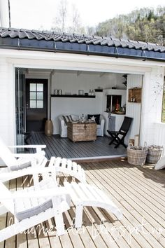 Love the enclosed patio with an additional deck in the sun