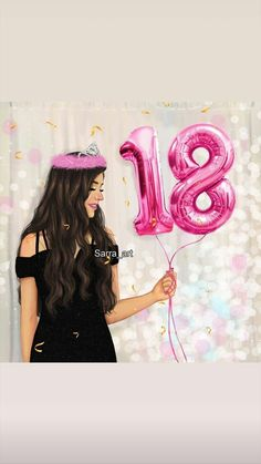 Dpz for girls Cute Girl Wallpaper, Cute Wallpaper Backgrounds, Cute Wallpapers, Birthday Wishes, Happy Birthday, Girly M, Girly Pictures, Birthday Balloons, Besties