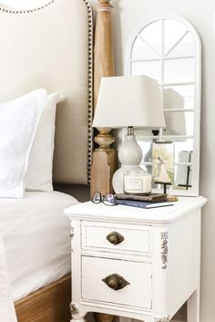 Faux Gilded Nightstands