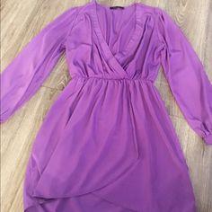 Long Sleeve Mini Dress Long Sleeve • Dress • Mini • Purple Honey Punch Dresses Mini