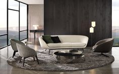 RUSSELL - Designer Sofas from Minotti ✓ all information ✓ high-resolution images ✓ CADs ✓ catalogues ✓ contact information ✓ find your nearest. Living Room Sofa Design, Living Room Sets, Living Room Furniture, Sofa Layout, Lounges, Interior Exterior, Interior Design, Condo Design, Piece A Vivre