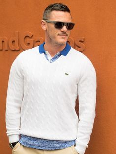 Luke Evans attends the French Tennis Open Day Thirteen at Roland Garros on June 3, 2016 in Paris, France.