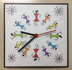 This clock would be so cute done in quilling!