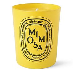 diptyque exclusively for selfridges 'mimosa' candle Yellow Shop, Big Yellow, Mellow Yellow, Diptyque Candles, Scented Candles, Candle Jars, Cute Gifts, Best Gifts, Yellow Candles