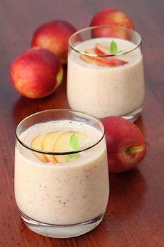 OR Peaches and Cream Smoothie 1 scoop or packet Vanilla Shakeology 1/2 C. almond milk 1 C. frozen peaches 1/4 C. Greek yogurt 1/2 tsp. cinnamon