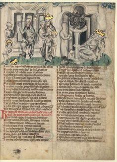 Latin 511, fol. 12, Songe de Nabuchodonosor : statue