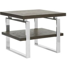 Safavieh Couture Bullock End Table (Brown) ($580) ❤ liked on Polyvore