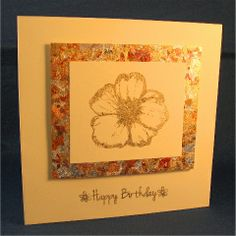 Indigo Blu stamp with Autumn Blaze and Chariots of Fire gilding flakes
