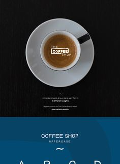 Share with you a set of typefaces originally drawn for The Coffee Shop, London. Thats's Coffee Shop Family Font. This font family is perfect for cafe branding or poster, headline, logotype, social media banner. It's now available for download.