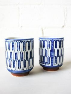 Spartan blue and white tea mug