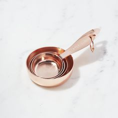 Copper Measuring Cups Set of Four | Crate and Barrel