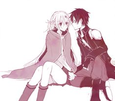 My fav couple asuna and kirito Yui Sword Art Online, Online Art, Sao Kirito And Asuna, Otaku, Manga, Sao Characters, Accel World, Pokemon, Couple Drawings