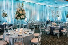 """Linens can make or break the decor of a #wedding! This """"snowflake soiree"""" was created by Linen Hero. Come see them at the February 16th 2014 PWG Wedding Show! Tickets on sale now, use promo code """"PIN"""" for $2 off your ticket."""